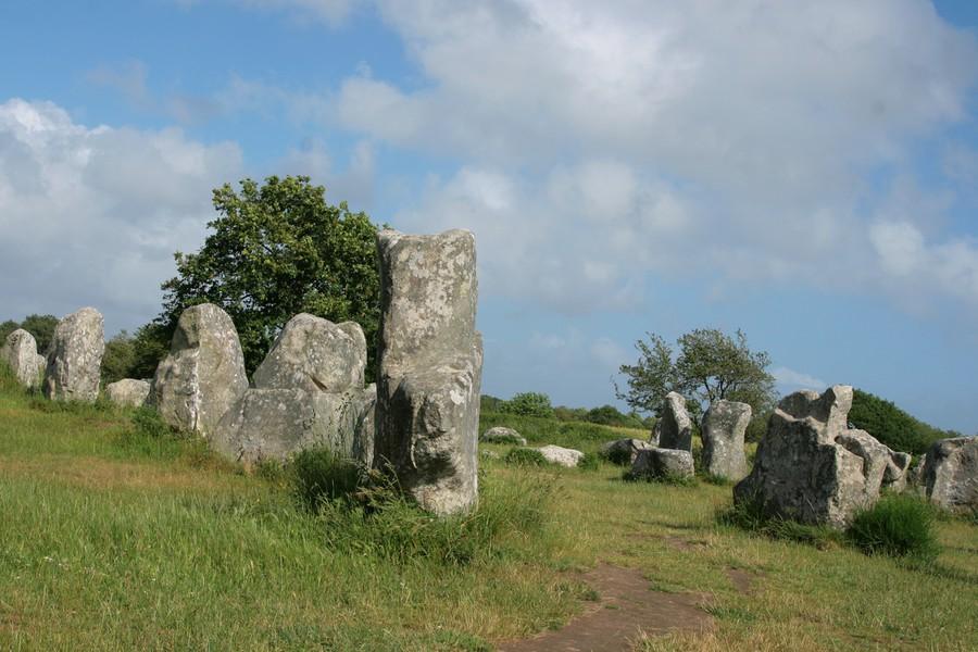Menhir près du camping en Bretagne